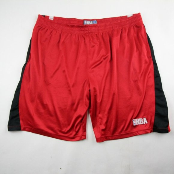 Official NBA Mens Basketball Shorts Red White 3XL